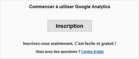 Inscription à Google Analytics