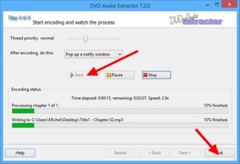 DVD Audio Extractor : Encodage des pistes audio