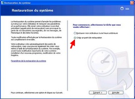 Restauration de Windows XP