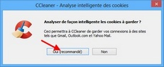 Analyse intelligente des cookies avec Ccleaner