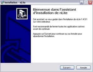 nLite : Assistant d'installation
