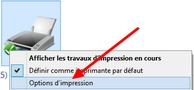 Modifier options d'impression (Brouillon, Photo,...)