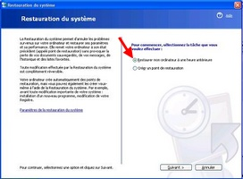 Créer un point de restauration Windows XP